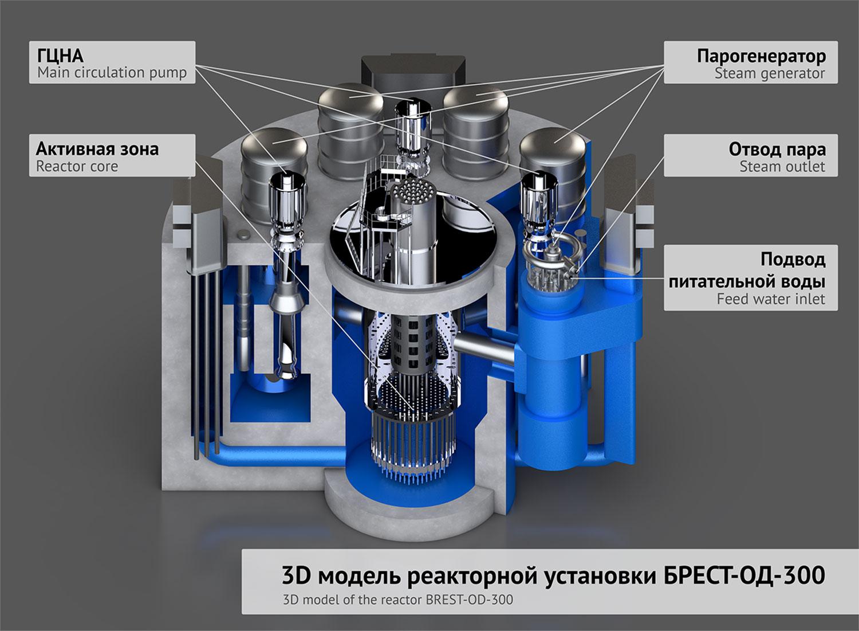 Реактор БРЕСТ-ОД-300 Росатом проект Прорыв