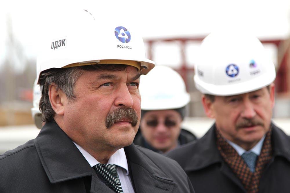 В.А. Першуков на строительной площадке проекта Прорыв