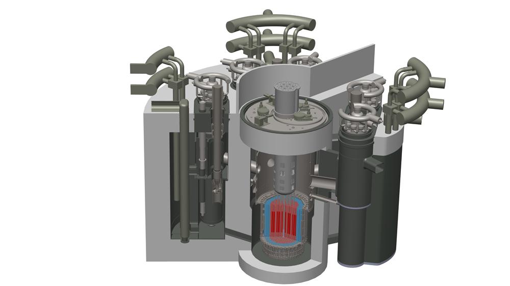 Модель реактора на быстрых нейтронах БРЕСТ-ОД‑300